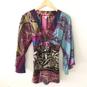 Alice & Trixie 100% Silk Kimono Top